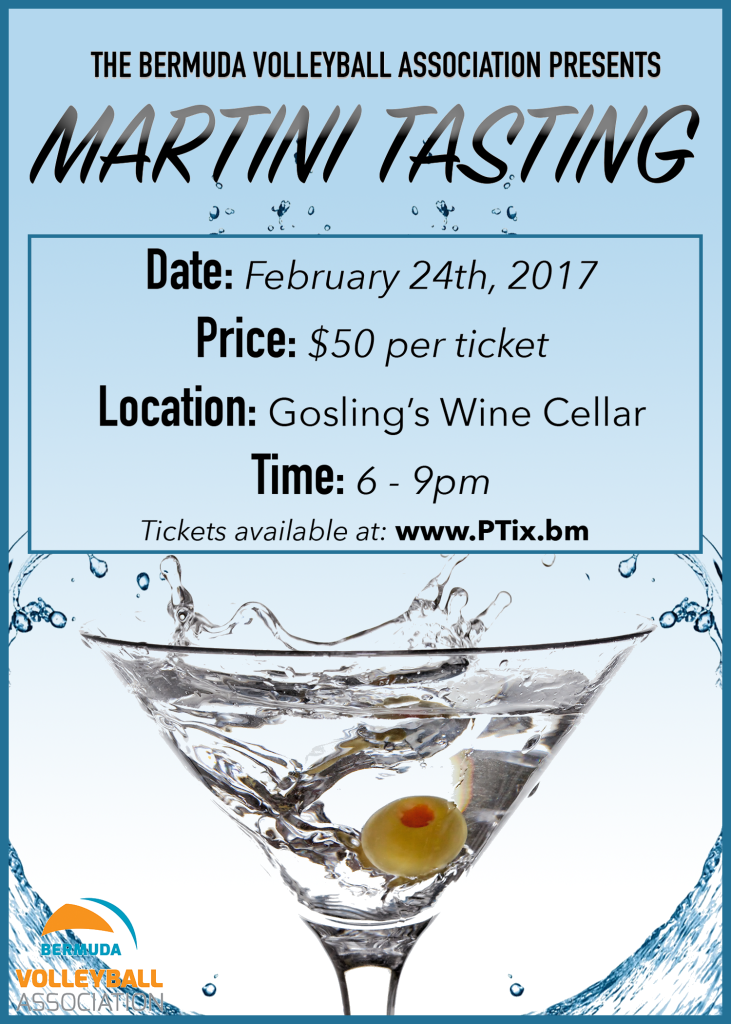 BVA Martini Tasting Poster Border