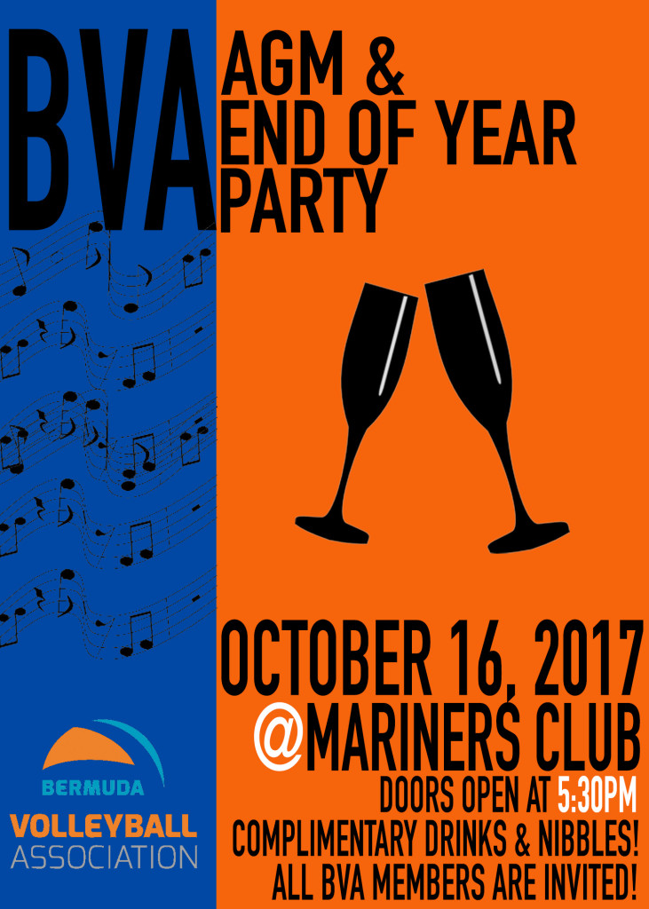 BVA AGM & Year End Party Poster