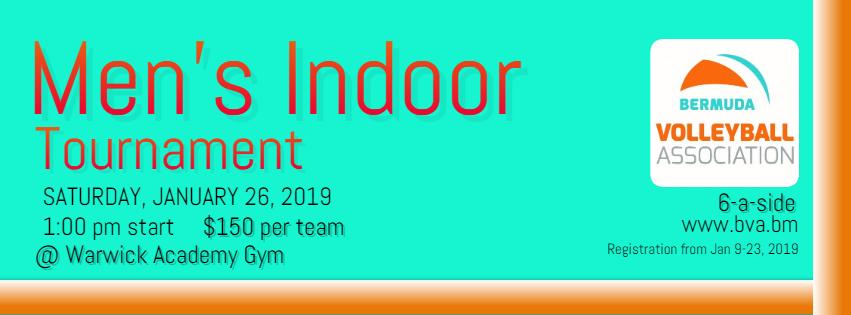 Mens Indoor Tournament Poster 2019